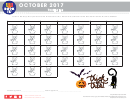 Halloween Themed Pizza Hut Reading Log