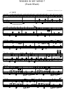 'where Is My Mind (frank Black)' Piano Sheet Music