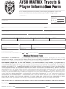 Ayso Matrix Tryouts & Player Information Form