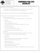 Swimming Pool/spa Checklist And Door Protective Verification Form
