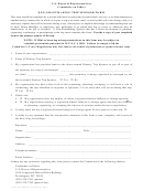 Non-grantmaking Tripsponsor Form - U.s. House Of Representatives Committee On Ethics