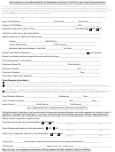 Authorization For The Administration Of Medication Form