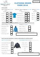 Clothing Order Form - Riding Club - 2016