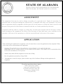 Application To Assign Trademark, Service Mark Or Trade Name In Alabama - Secretary Of State