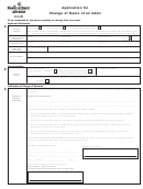 Application For Change Of Name Of An Adult - Vital Statistics Division