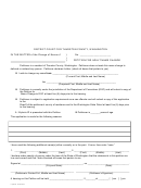 Petition For Adult Name Change - District Court For Thurston County