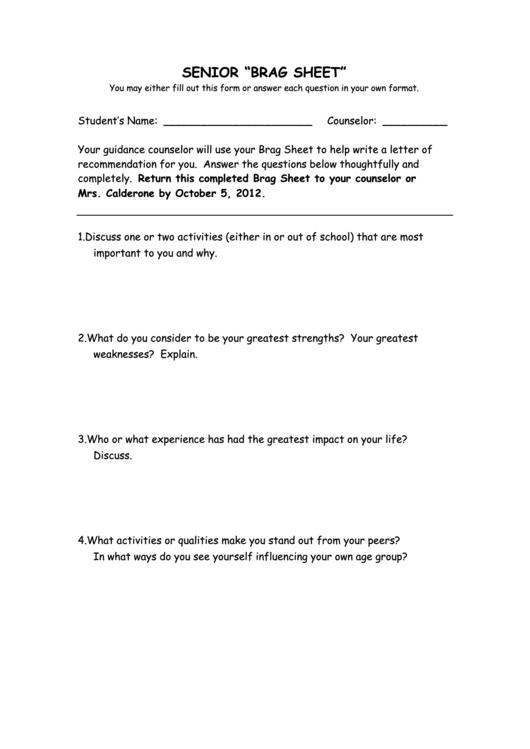 senior brag sheet printable pdf download