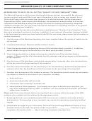 Form Cms-10287 - Medicare Quality Of Care Complaint