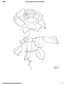 Rose Coloring Sheet