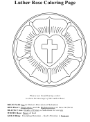 Luther Rose Coloring Sheet