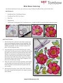 Wild Rose Coloring Sheet