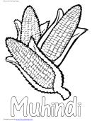 Muhindi Kwanzaa Coloring Sheet