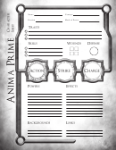Anima Prime Character Sheet