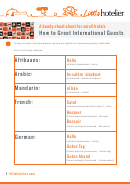 How To Greet International Guests Cheat Sheet