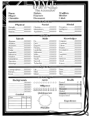 Mage The Ascension Character Sheet