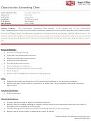 Construction Acounting Clerk Job Description
