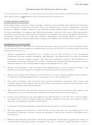 Information Technology Manager Job Description Template