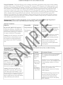 Sample Project Evaluation Plan Template