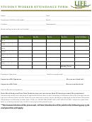 Student Worker Attendance Form