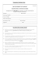 Examination Attendance Form