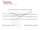 Ciise Seminar Attendance Form