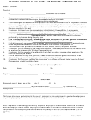 Affidavit Of Exempt Status Under The Workers' Compensation Act