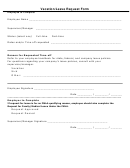 Vacation/leave Request Form