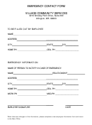 Village Community Services Emergency Contact Form