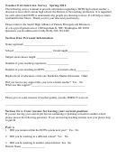 Teacher Exit Interview Survey