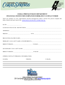 Coral Springs Police Department Financial Institution Employee Emergency Contact Form