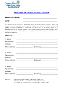 The Department Of Medicine Employee Emergency Contact Form