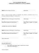 Employee's Emergency Contact Person - City Of Madison Heights