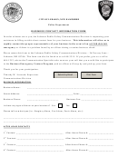 Police Department Business Contact Information Form