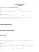 Corrective Action Record Warning Form