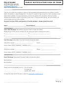 City Of Loretto Public Notification Sign-up Form