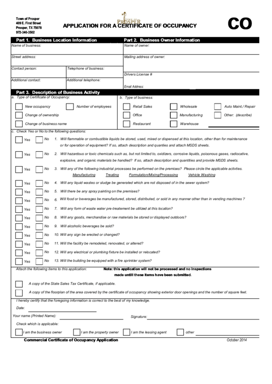 top 26 certificate of occupancy form templates free to