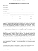 Clinical Staff Relief Performance Evaluation Form