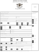 Application For A Short-stay Visa - Republic Of Cote D'ivoire