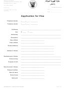 Embassy Of Sudan Application For Visa