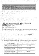 General Guidance For Chinese Visa Application, Visa Application Form Of The People's Republic Of China (for The Mainland Of China Only)
