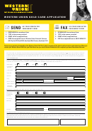Western Union Gold Card Application Form