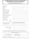 Western Union Authorization Form