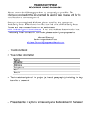 Productivity Press Book Publishing Proposal