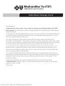 Medicareblue Rx Individual Change Form