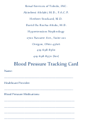 Blood Pressure Tracking Card