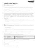 Customer Property Claim Form