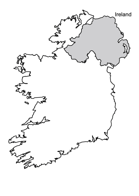 Pdf Map Of Ireland.Ireland Map Template Printable Pdf Download