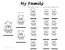 Teddy Bear Family Tree Template
