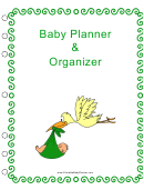 Baby Planner And Organizer Template