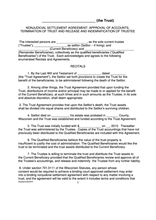 24 Settlement Agreement Templates Free To In PDF